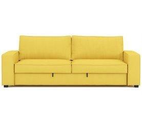 Sofá cama 3 plazas de tela PLUME Amarillo