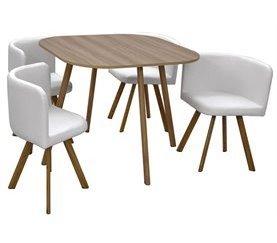 mesa de cocina con sillas dentro