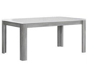 Mesa extensible de comedor MONTREAL Gris y Blanco