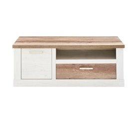 Mueble TV 1 puerta y 1 cajón VERONA Roble antiguo y pino blanco