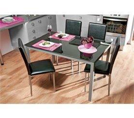 Conjunto mesa y 4 sillas TOP Blanco óptico