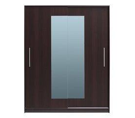 Armario 2 puertas correderas con espejo YORK Blanco