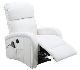 Sillón relax motorizado con masaje VIENA Blanco