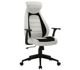 Silla de escritorio profesional NOA Blanco y negro