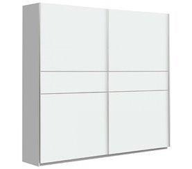 Armario 2 puertas correderas 220 cm NEVADA Blanco