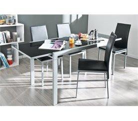 Conjunto mesa extensible y 4 sillas ASSYA Blanco