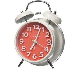 Reloj despertador METRONIC VINTAGE Rojo y Blanco