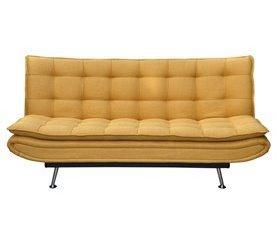 Sofá cama de tela WILLEM Amarillo
