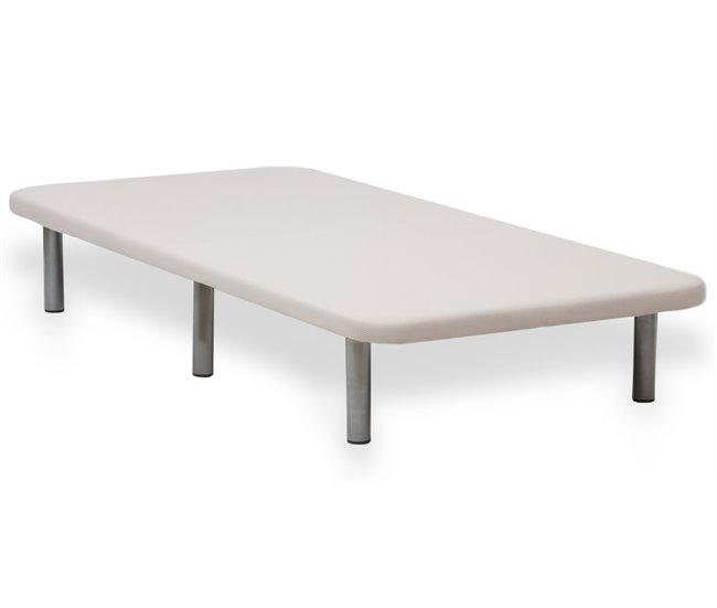 Base de cama tapizada beige BASE 3D Conforama
