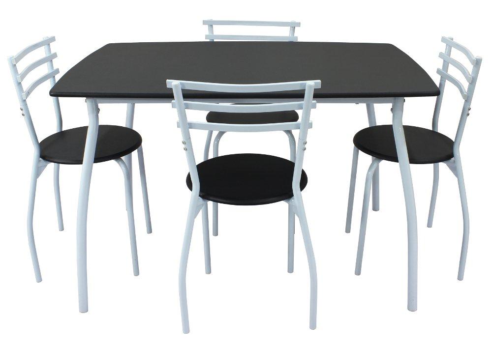 Conjunto mesa y 4 sillas de cocina SARA