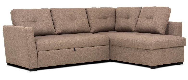 Sofá de canto com cama reversível OSCAR Vison - Conforama