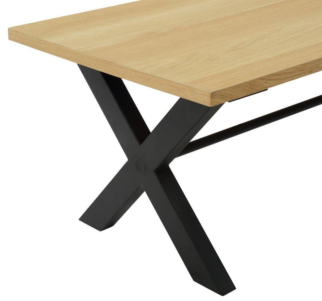 Mesa de comedor BOHEME Roble y Negro Conforama