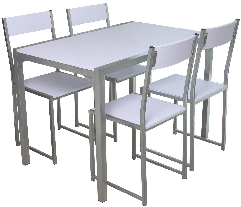 Conjunto mesa y 4 sillas ASHLEY